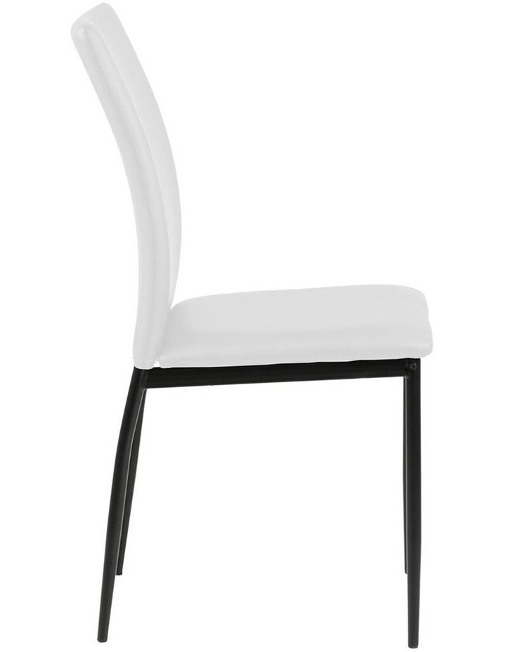 Living Set of 4  Emily Dining Chair White image 3
