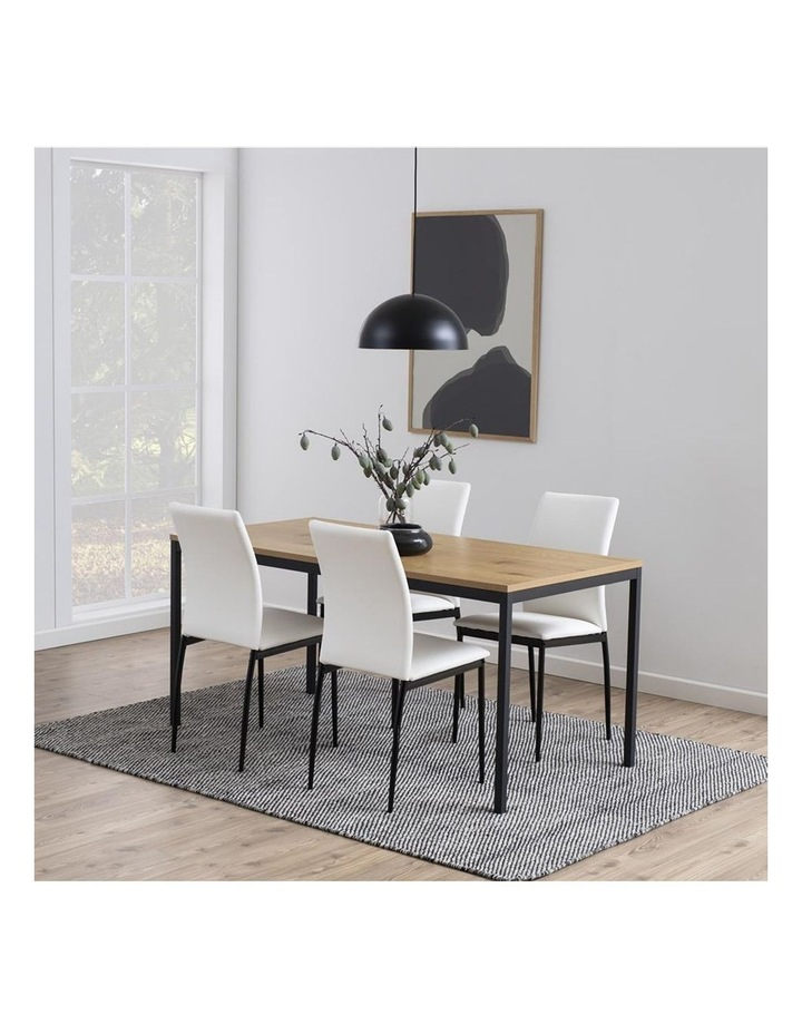 Living Set of 4  Emily Dining Chair White image 4
