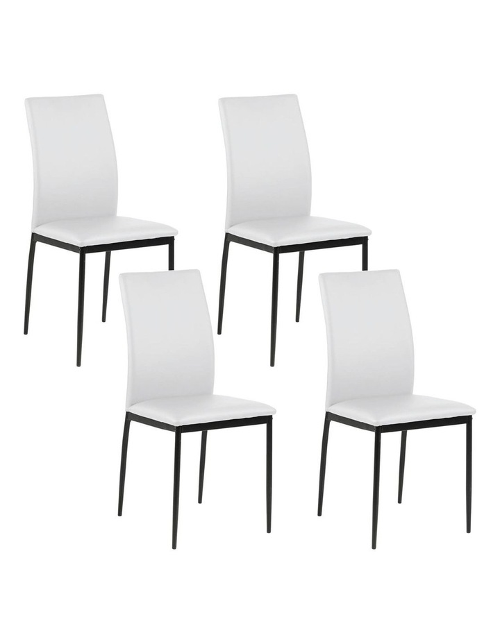 Living Set of 4  Emily Dining Chair White image 5