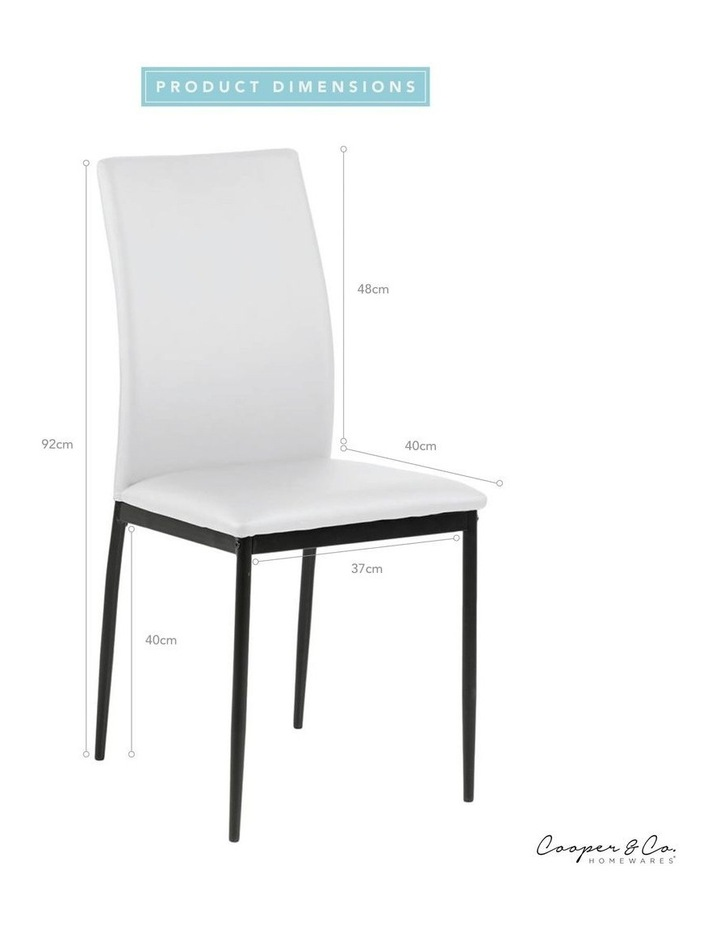 Living Set of 4  Emily Dining Chair White image 6