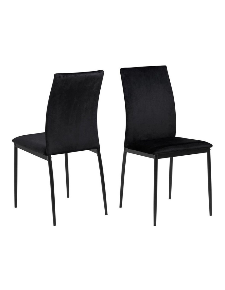 Living Set of 4 Emily Dining Chair Black image 1
