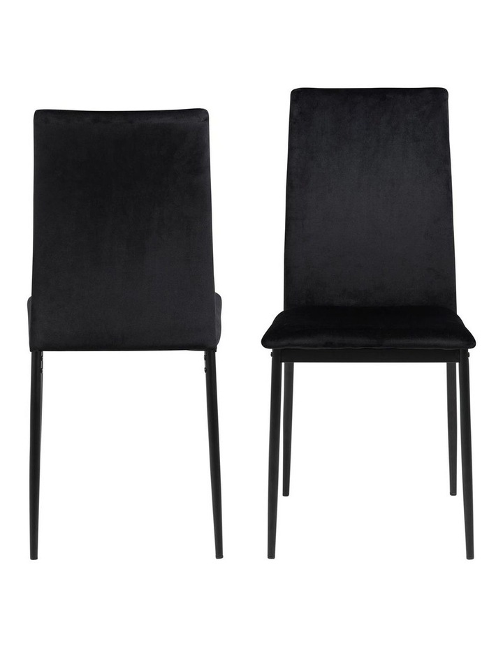 Living Set of 4 Emily Dining Chair Black image 2