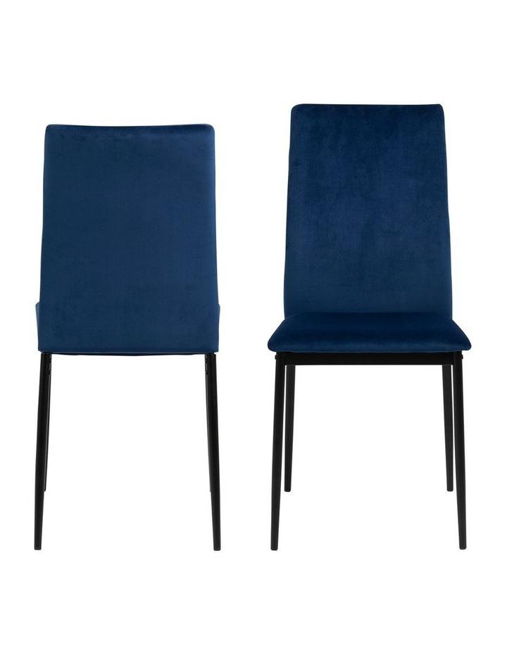 Living Set of 4 Emily Dining Chair Dark Blue image 1