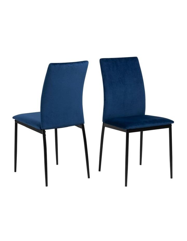 Living Set of 4 Emily Dining Chair Dark Blue image 2