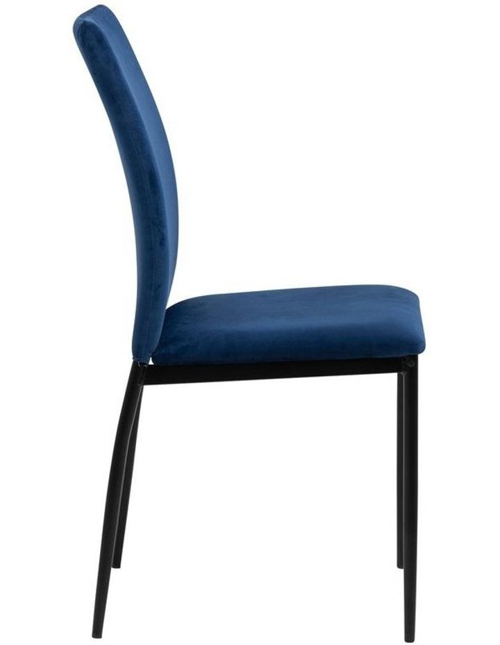 Living Set of 4 Emily Dining Chair Dark Blue image 3