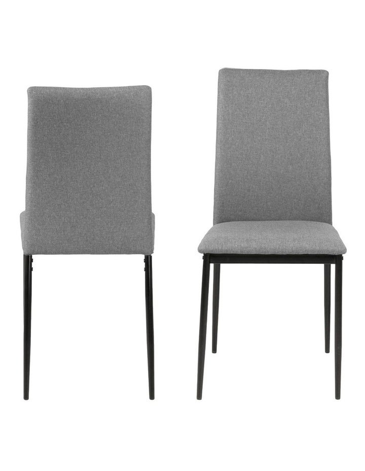 Living Set of 4 Emily Dining Chair Light Grey image 1
