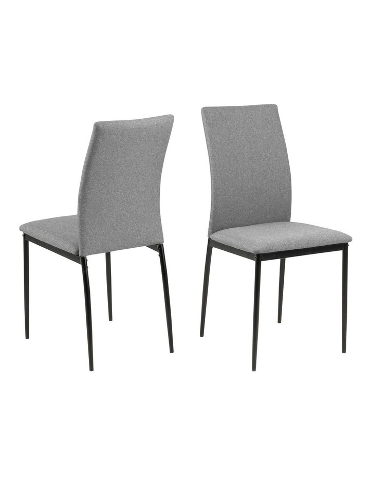 Living Set of 4 Emily Dining Chair Light Grey image 2