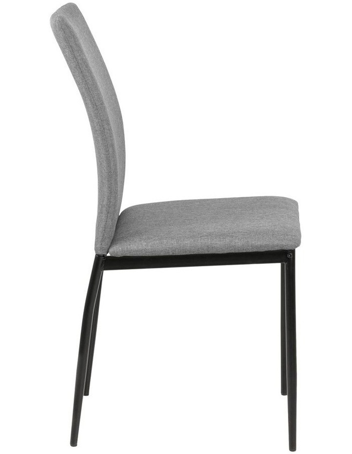 Living Set of 4 Emily Dining Chair Light Grey image 3