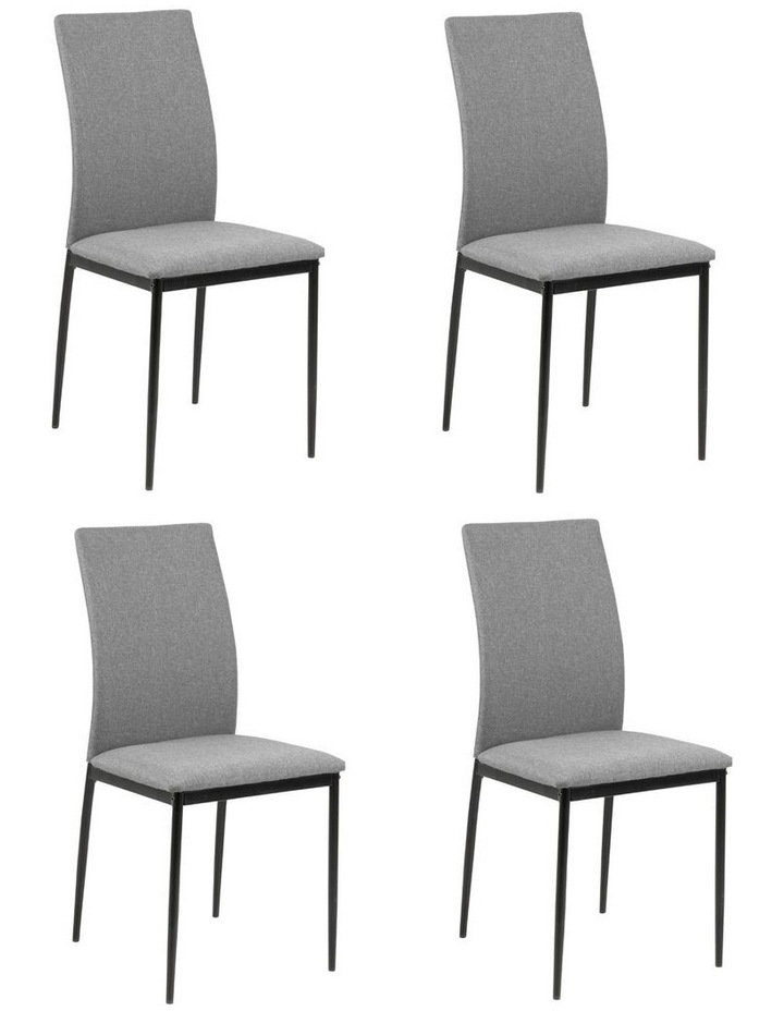 Living Set of 4 Emily Dining Chair Light Grey image 4