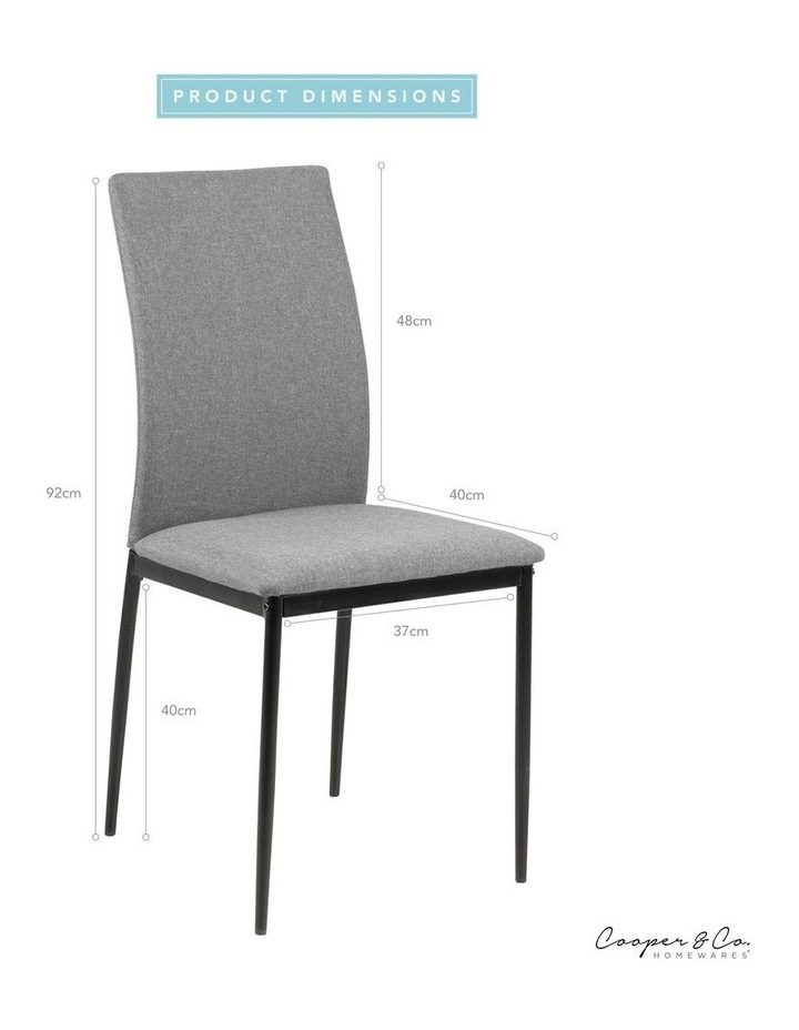 Living Set of 4 Emily Dining Chair Light Grey image 5