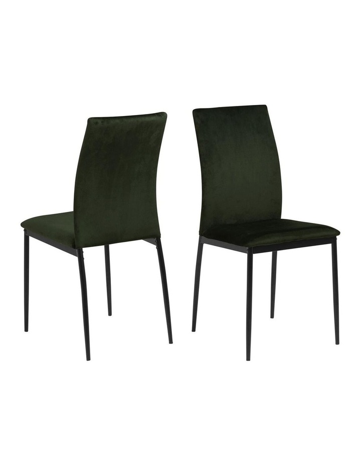 Living Set of 4 Emily Dining Chairs Olive Green image 1