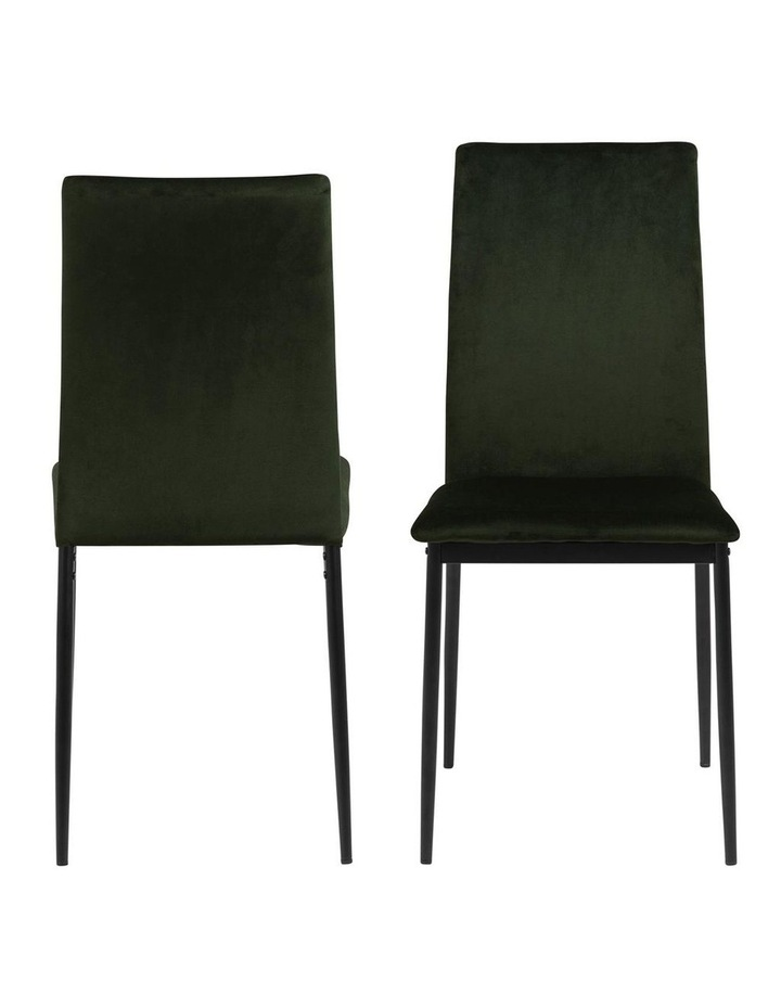 Living Set of 4 Emily Dining Chairs Olive Green image 2