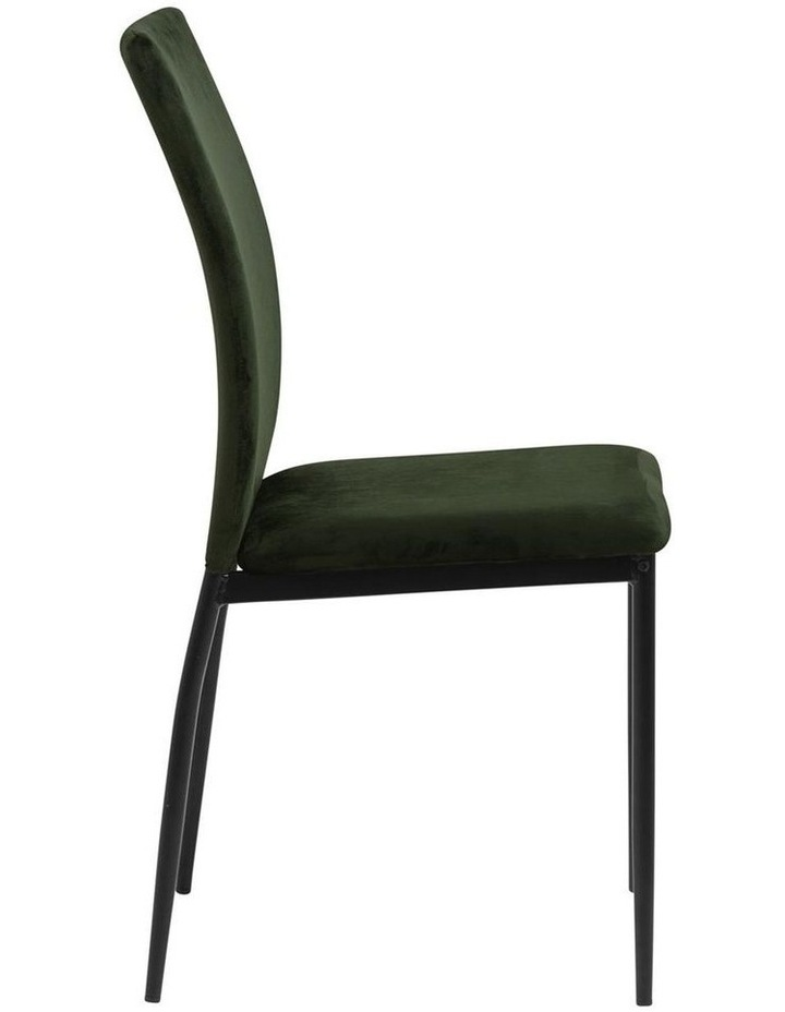 Living Set of 4 Emily Dining Chairs Olive Green image 3