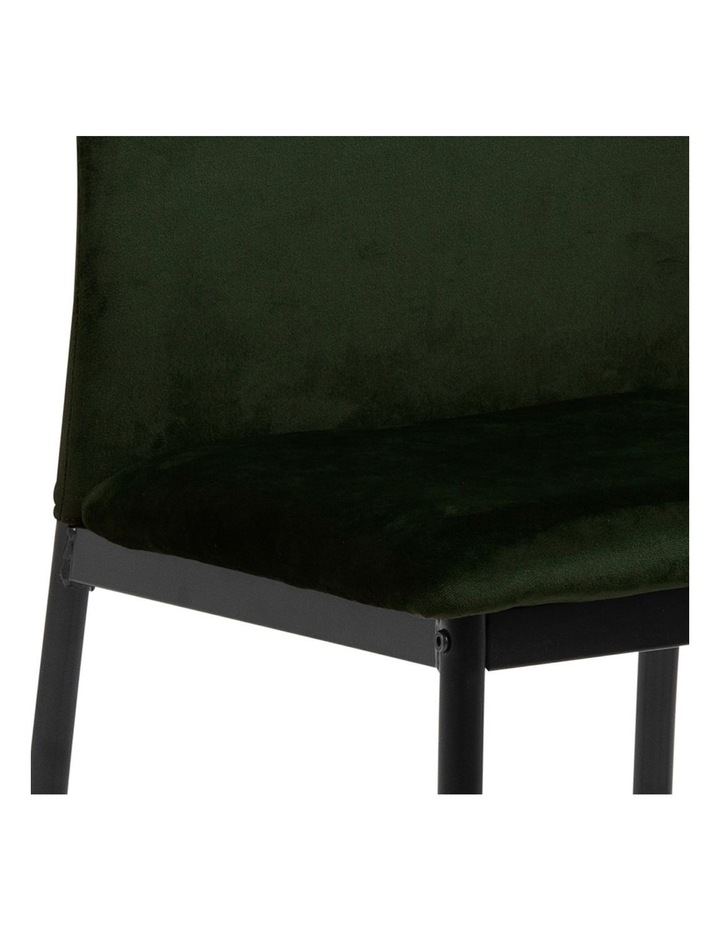 Living Set of 4 Emily Dining Chairs Olive Green image 4