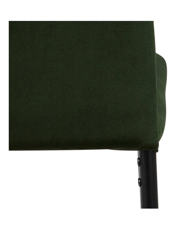 Living Set of 4 Emily Dining Chairs Olive Green image 7