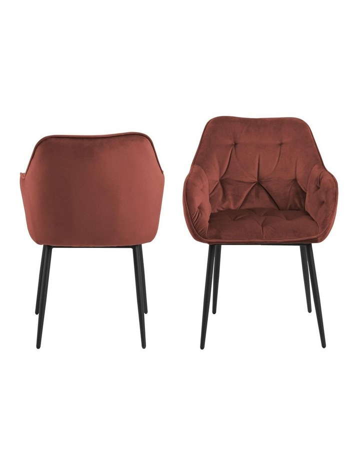 Set of 2 Living Stella Dining Chair Coral image 2