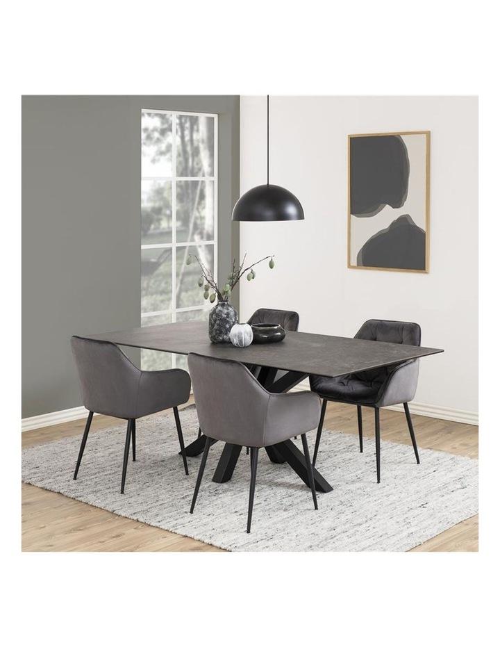 Set of 2 Living Stella Dining Chair Dark Grey image 2