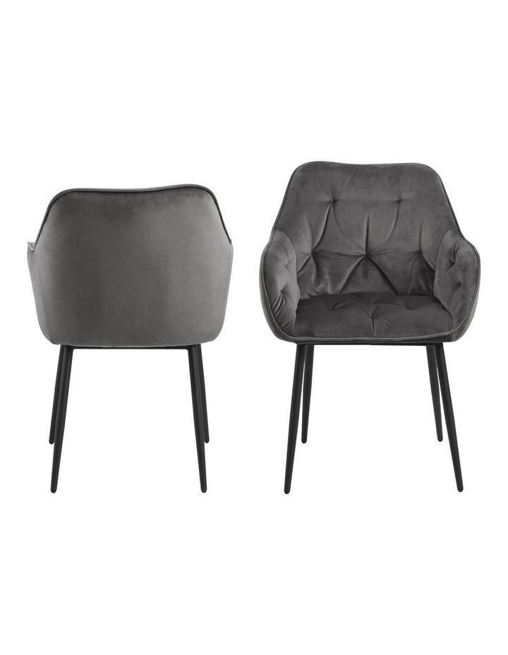 Set of 2 Living Stella Dining Chair Dark Grey image 3