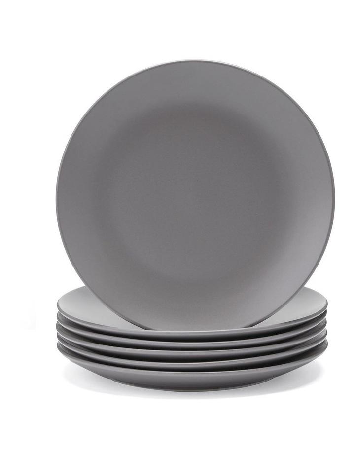26cm Annisa Dinner Plate Set Of 6 Grey image 1