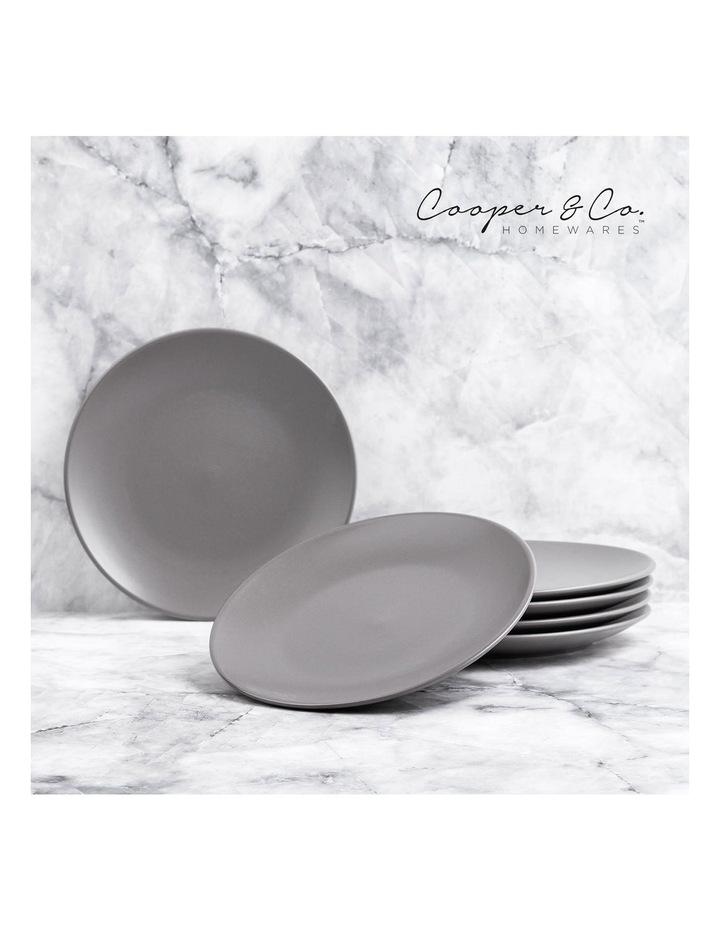 26cm Annisa Dinner Plate Set Of 6 Grey image 2