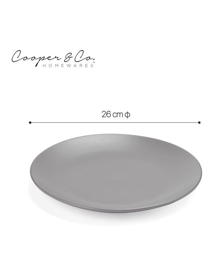26cm Annisa Dinner Plate Set Of 6 Grey image 3