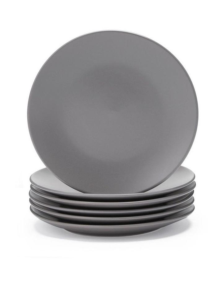 21cm Annisa Side Plate Set Of 6  Grey image 1