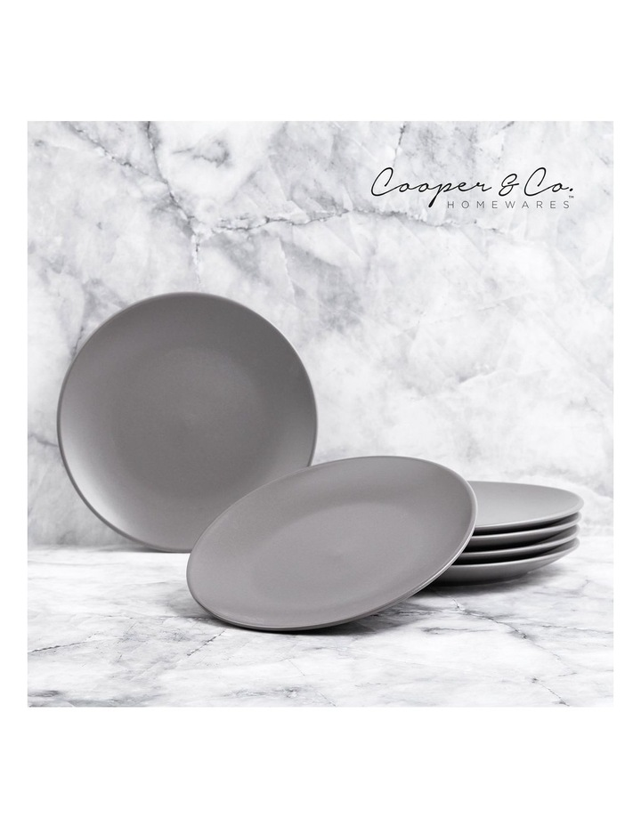 21cm Annisa Side Plate Set Of 6  Grey image 2