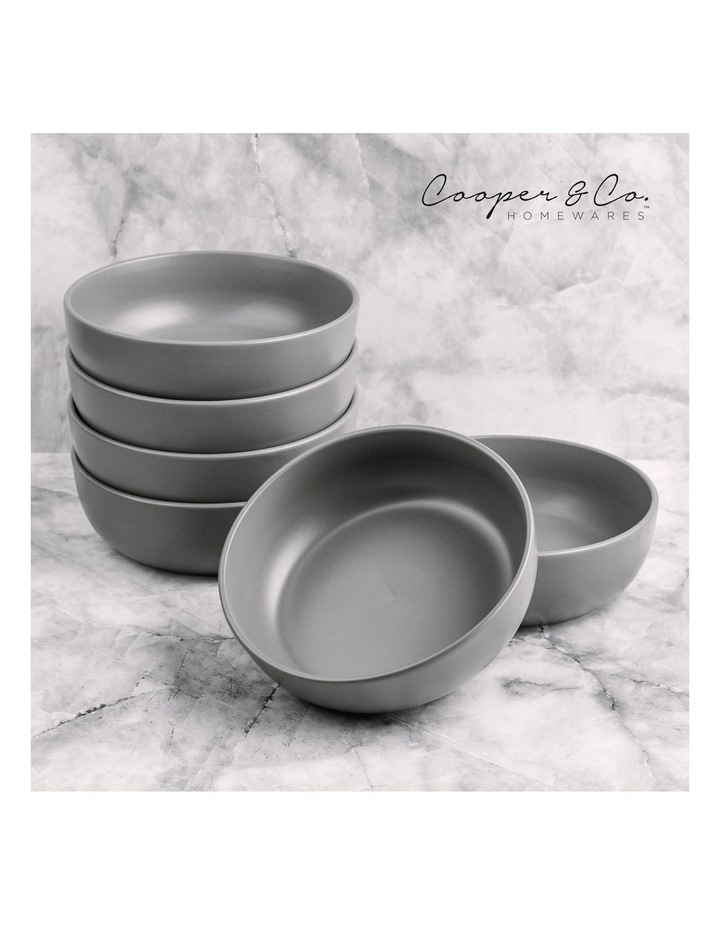 18cm Annisa Bowl Set Of 6  Grey image 2