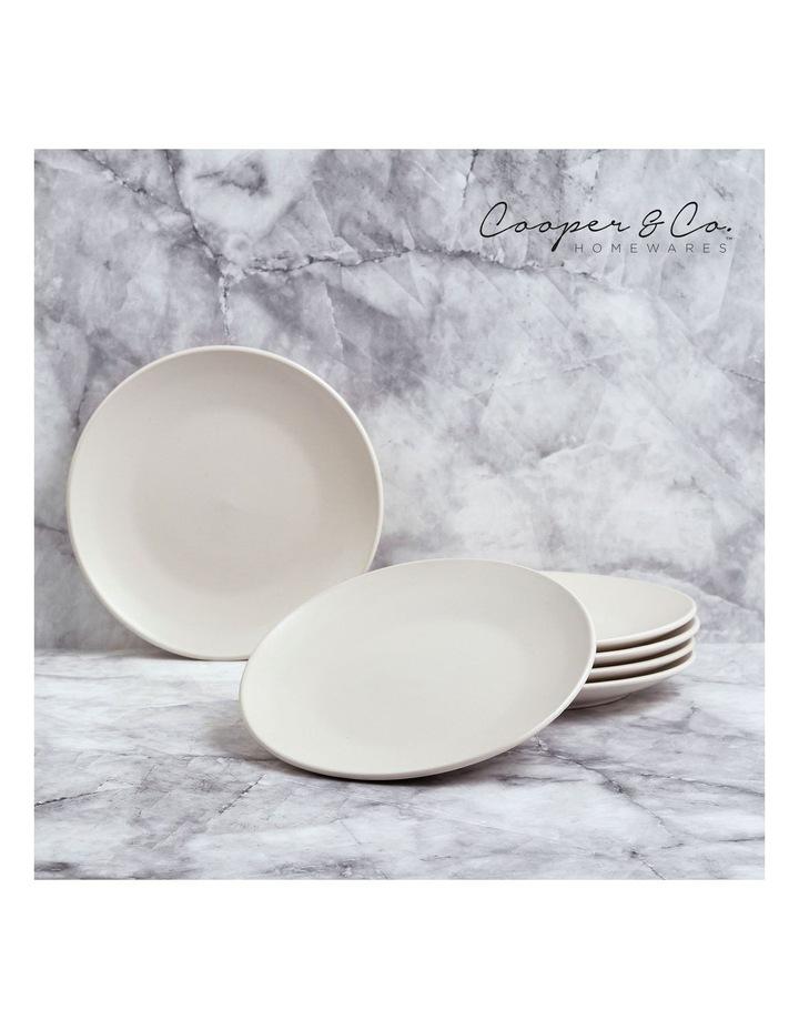 21cm Annisa Side Plate Set Of 6  Ivory image 2
