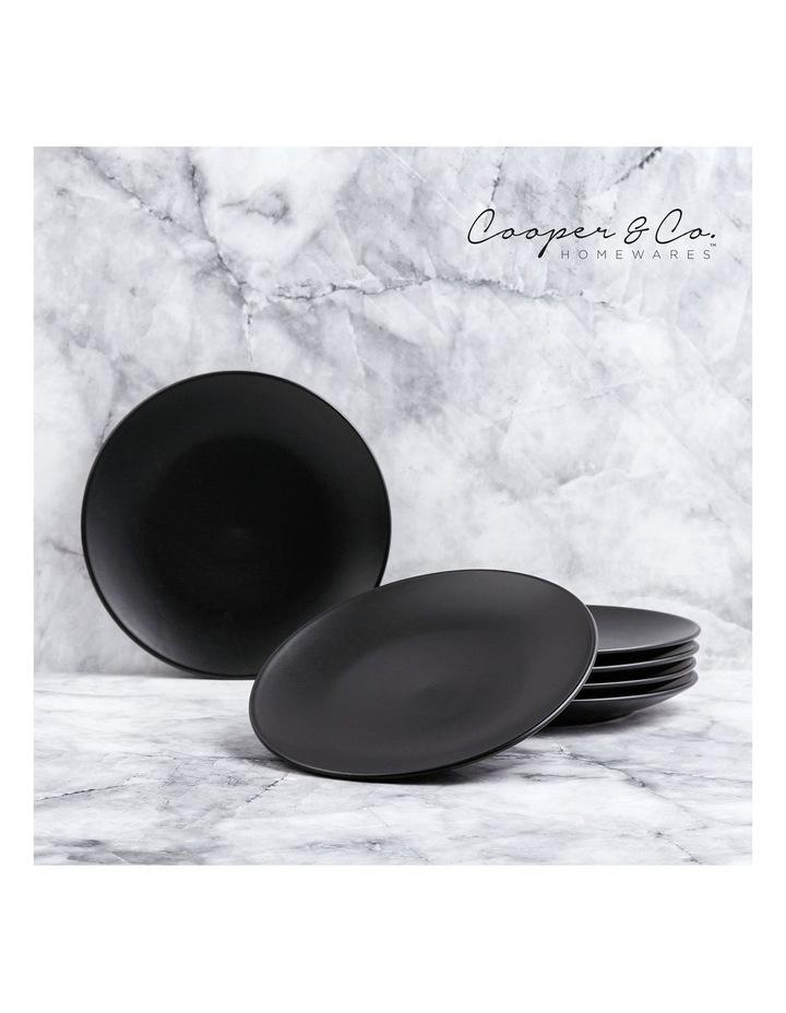 21cm Annisa Side Plate Set Of 6  Black image 2
