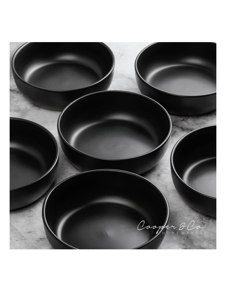 18cm Annisa Bowl Set Of 6  Black image 4
