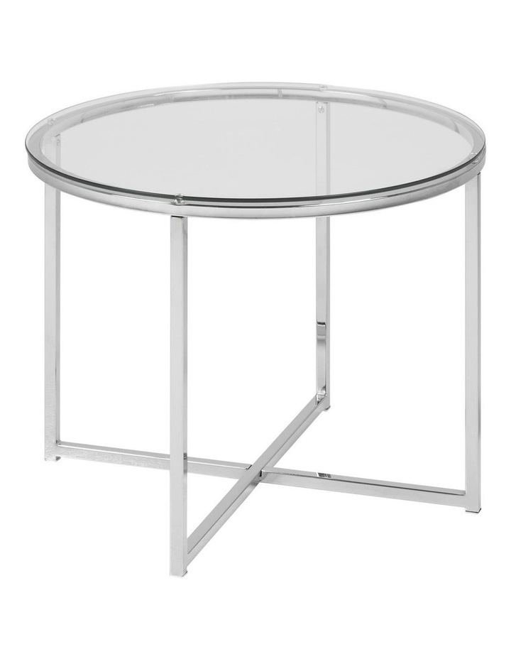 Clear Kallista Round Glass-Top Coffee Table image 1