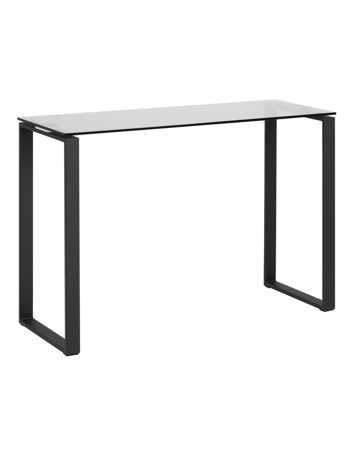 Katrine Console Glass-Top Table Smoke Stained image 1