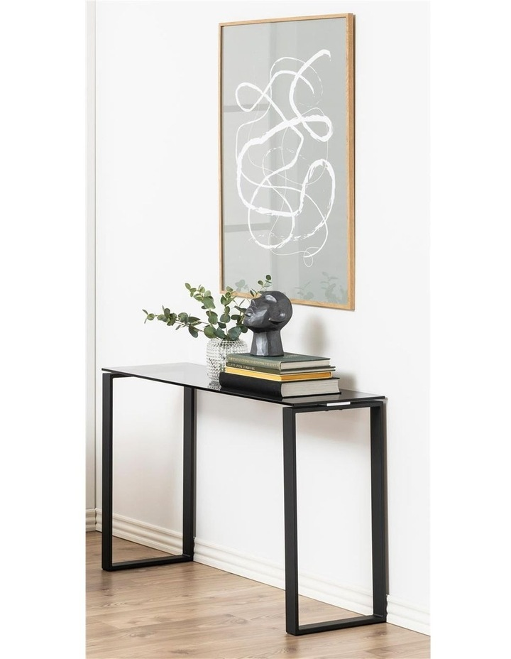 Katrine Console Glass-Top Table Smoke Stained image 5
