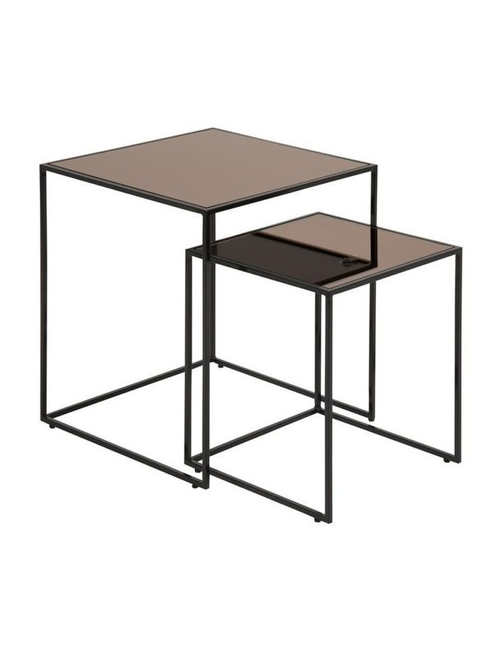 2 Piece Boloton Nesting Glass-Top Coffee Tables image 1