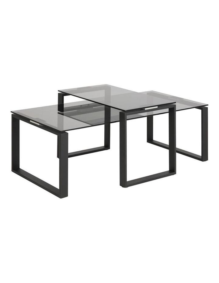 2 Piece Katrine Nesting Glass Tables Smoke Stained Top image 1