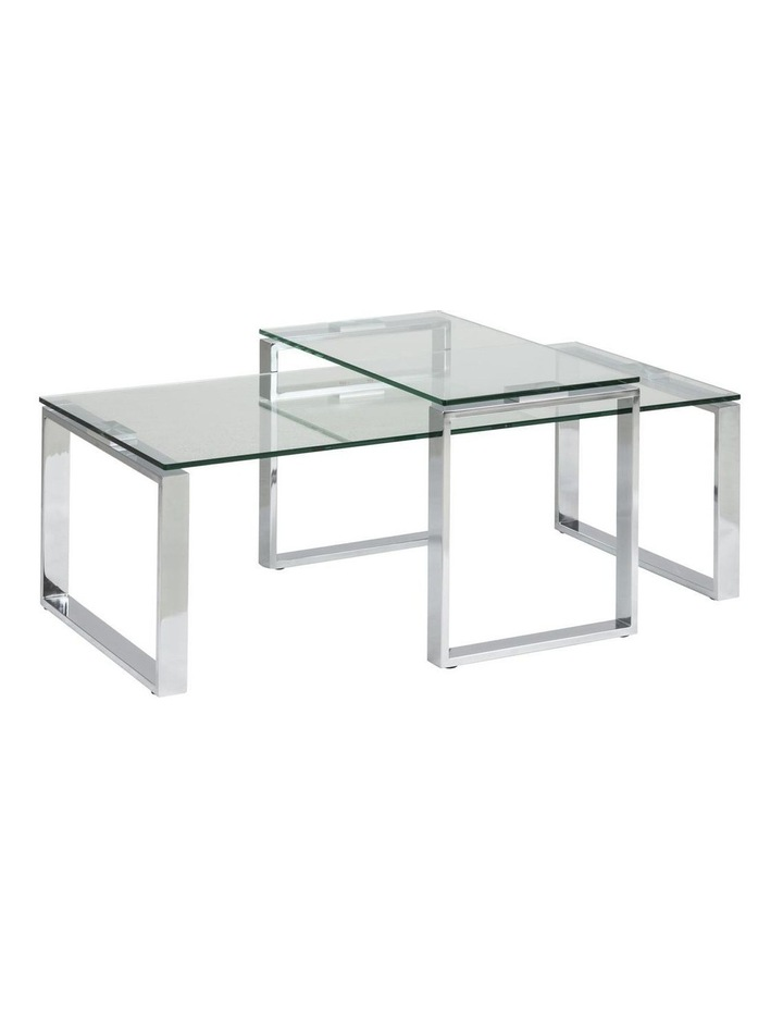 2 Piece Katrine Nesting Glass Tables Clear Top image 1