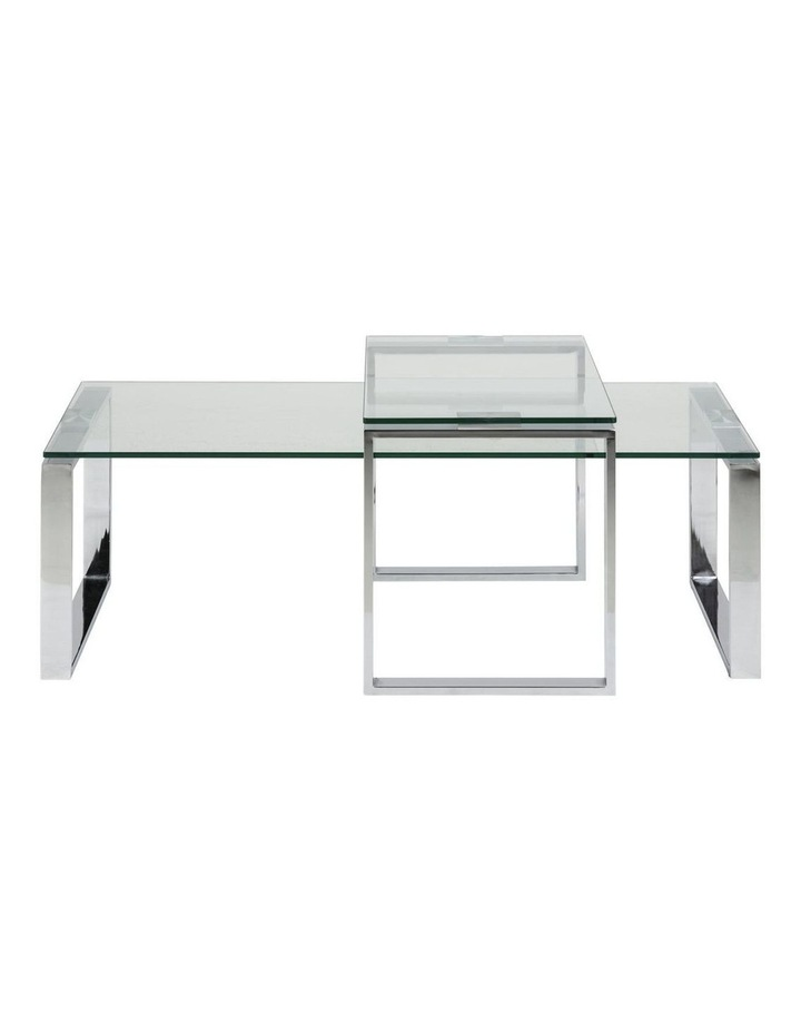 2 Piece Katrine Nesting Glass Tables Clear Top image 2