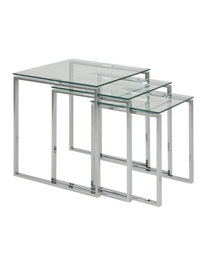 3 Piece Katrine Nesting Tables Clear Top image 1