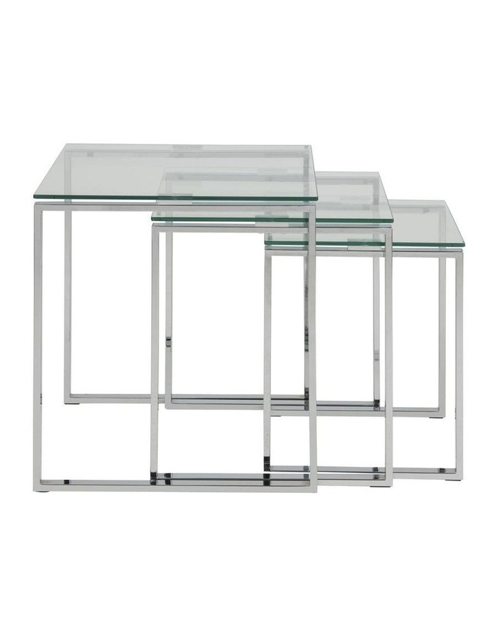 3 Piece Katrine Nesting Tables Clear Top image 2
