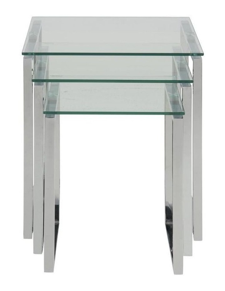 3 Piece Katrine Nesting Tables Clear Top image 3