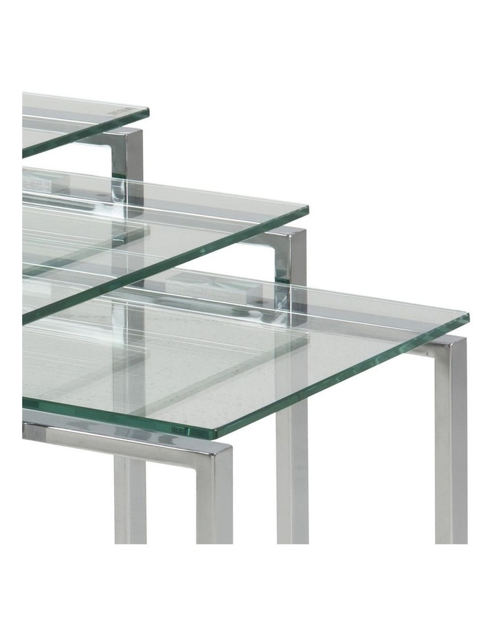 3 Piece Katrine Nesting Tables Clear Top image 4