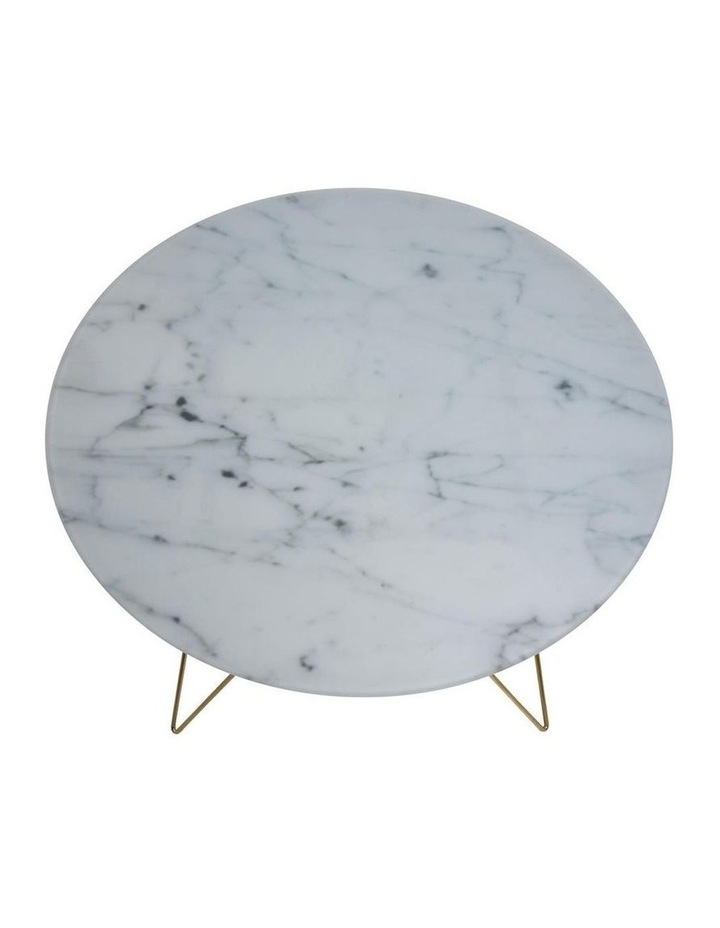 Prunus Coffee Table Glass Table Top With Marble Print (Large) image 3