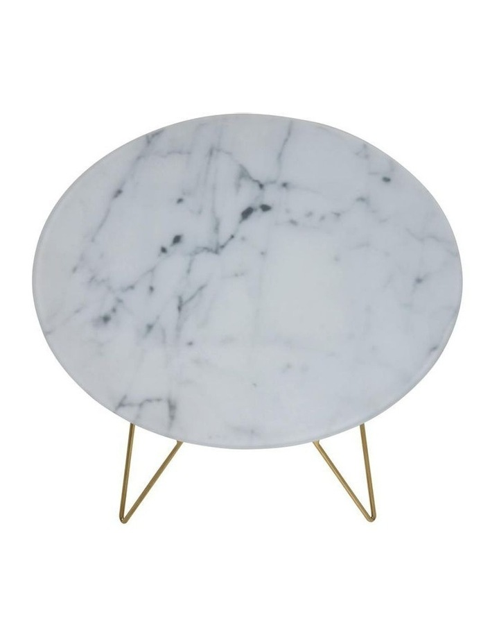 Prunus Lamp Table Glass Table Top With Marble Print Small image 3