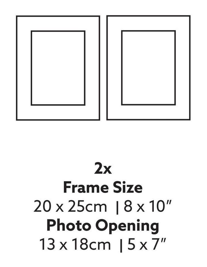 Instant Gallery Wall 7 Piece Frame Set Oak image 5