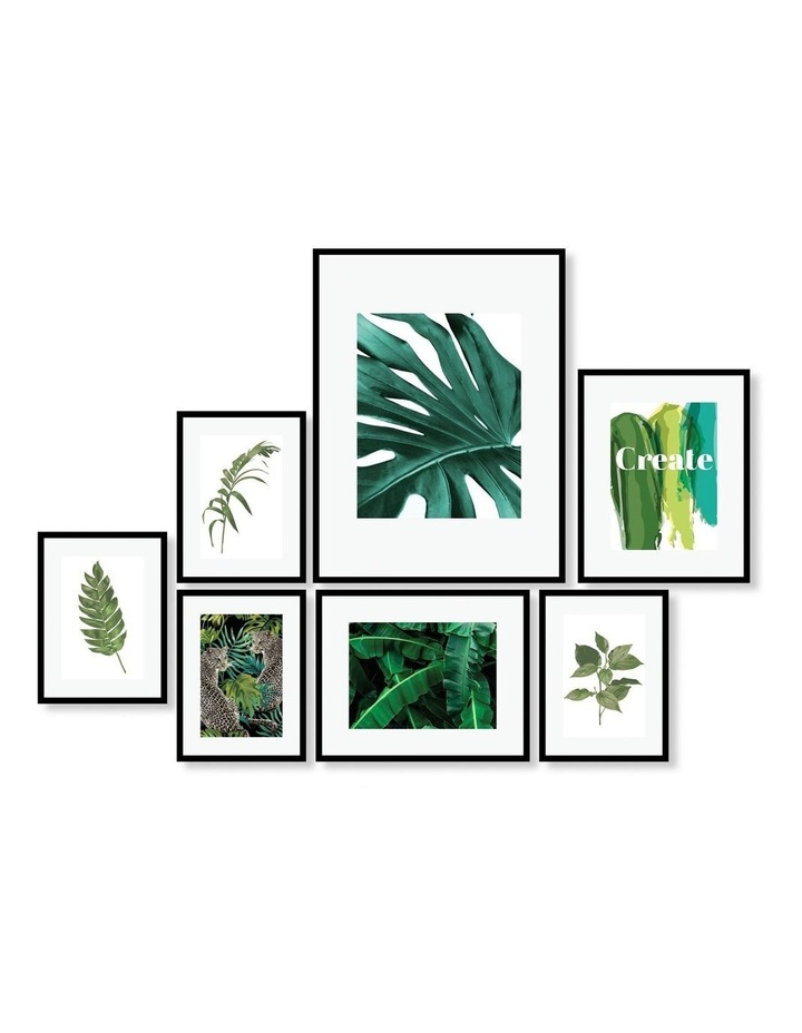 Instant Gallery Wall 7 Piece Frame Set Black image 1