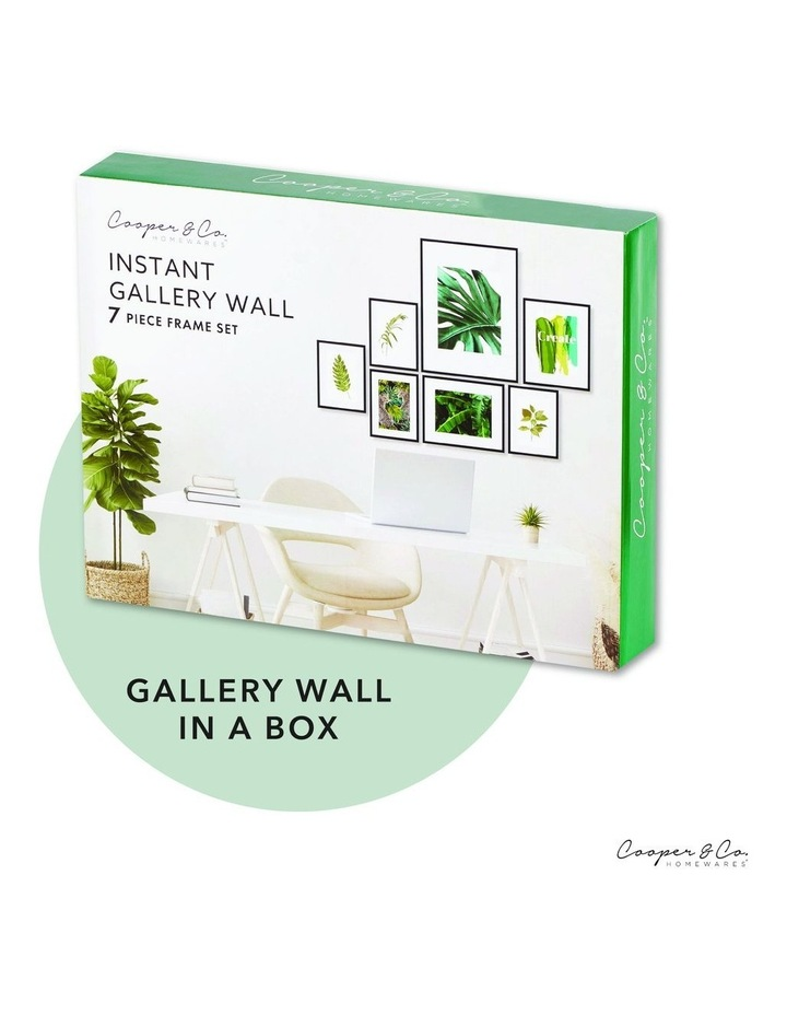 Instant Gallery Wall 7 Piece Frame Set Black image 2