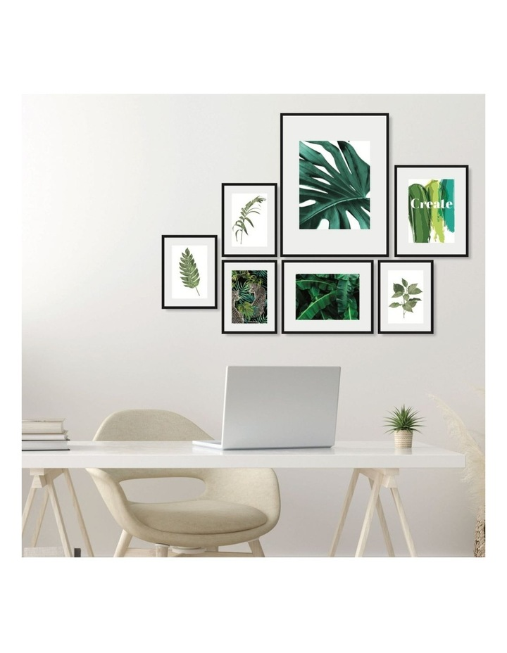 Instant Gallery Wall 7 Piece Frame Set Black image 3