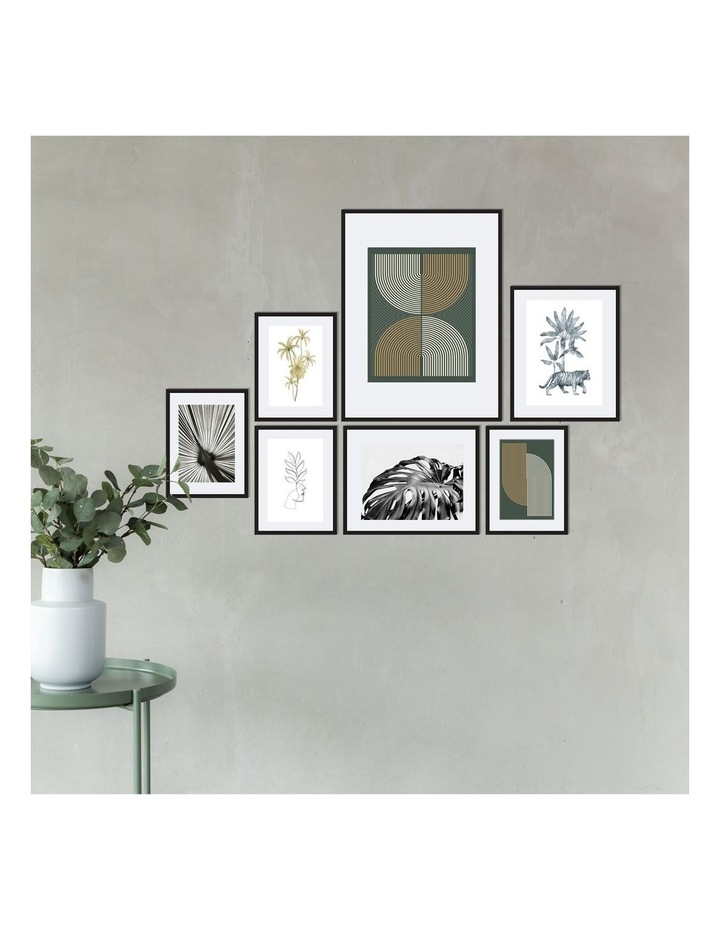Instant Gallery Wall 7 Piece Frame Set Black image 4