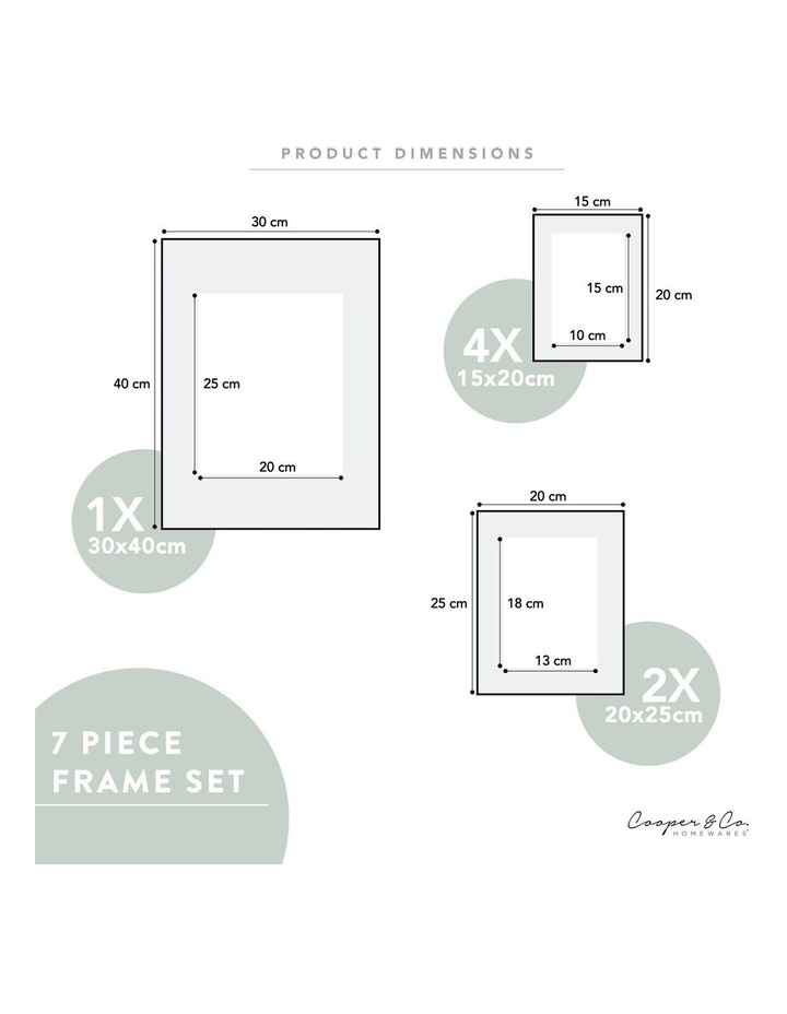 Instant Gallery Wall 7 Piece Frame Set Black image 6